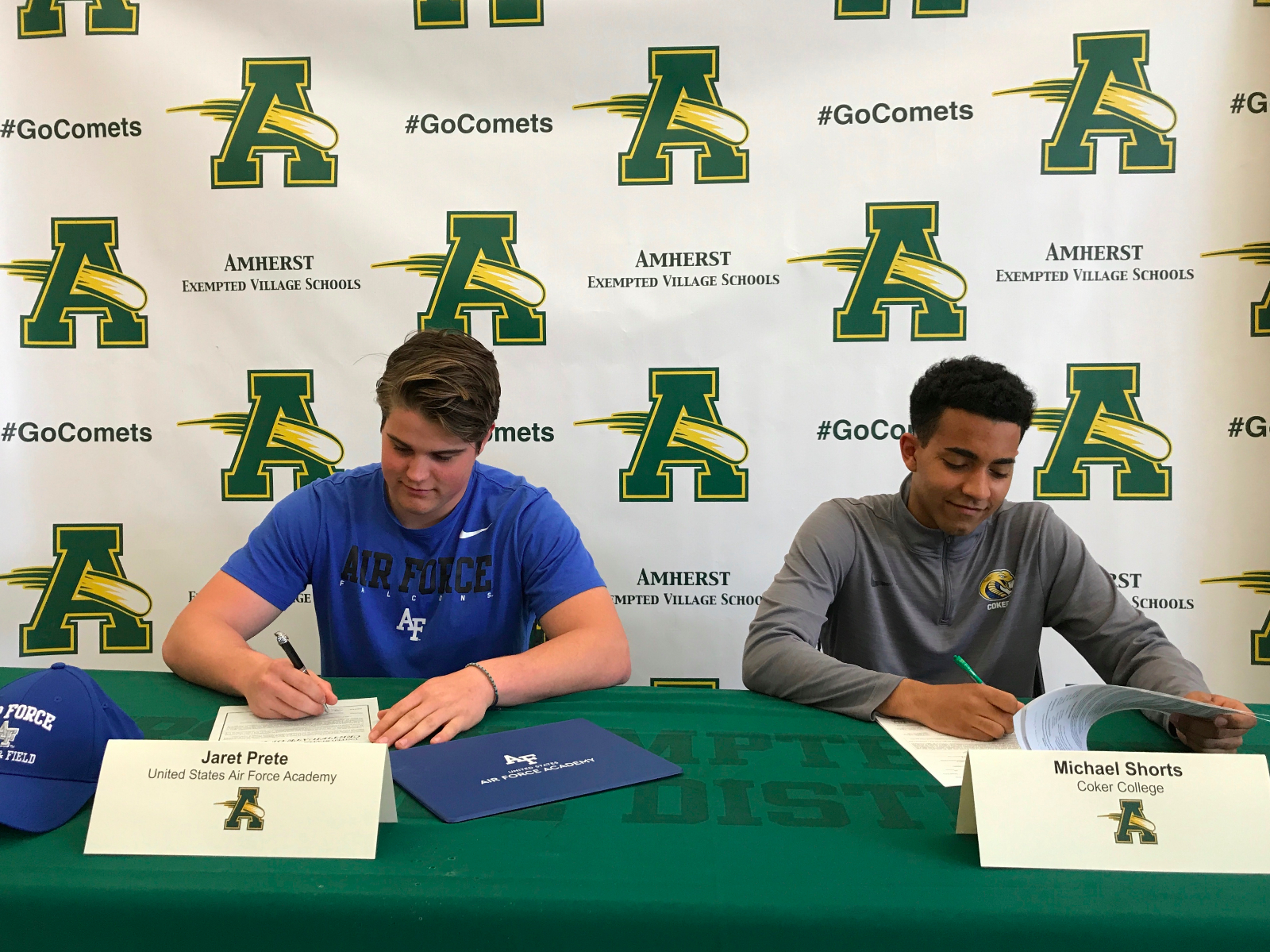 Prete and Shorts Sign Letters of Intent