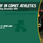 Wednesday, December 18th in Comet Athletics