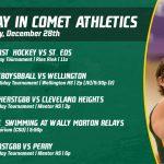 Saturday, December 28th in Comet Athletics