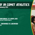 Friday, January 3rd in Comet Athletics
