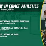 Tuesday, January 14th in Comet Athletics