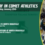 Wednesday, January 15th in Comet Athletics