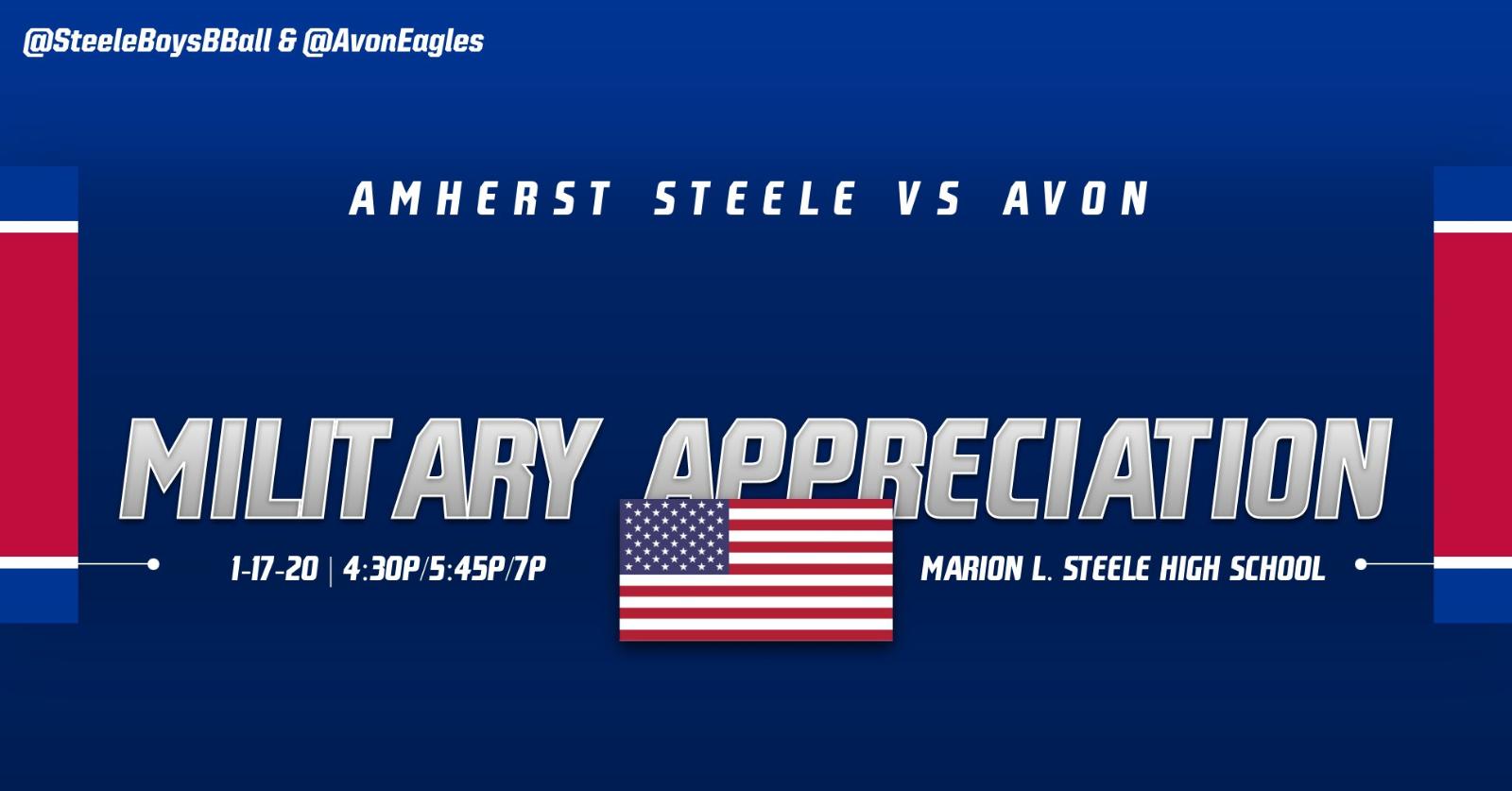 Military Appreciation Night at Basketball on Friday January 17th