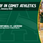 Tuesday, January 21st in Comet Athletics