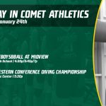 Friday, January 24th in Comet Athletics