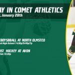Tuesday, January 28th in Comet Athletics