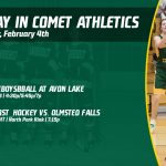 Tuesday, February 4th in Comet Athletics