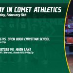 Wednesday, February 5th in Comet Athletics