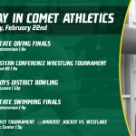 Saturday, February 22nd in Comet Athletics