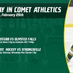 Tuesday, February 25th in Comet Athletics