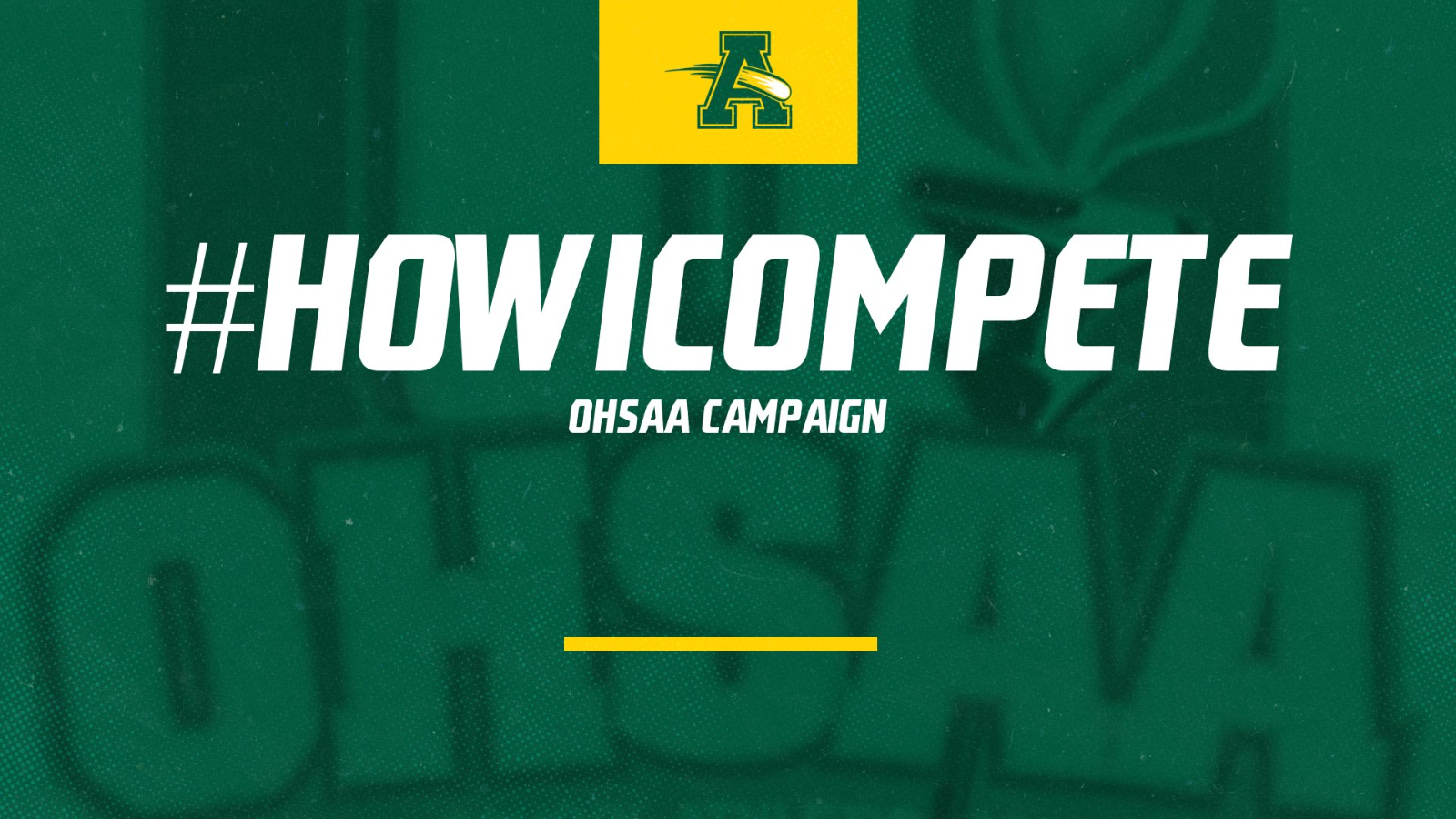 #howicompete Campaign Launched by @OHSAASports