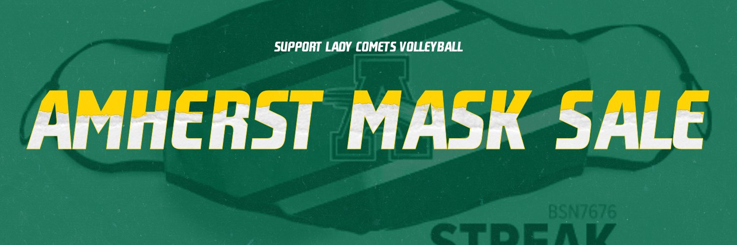 .@ladycometsvball is Selling Amherst Comets Masks!