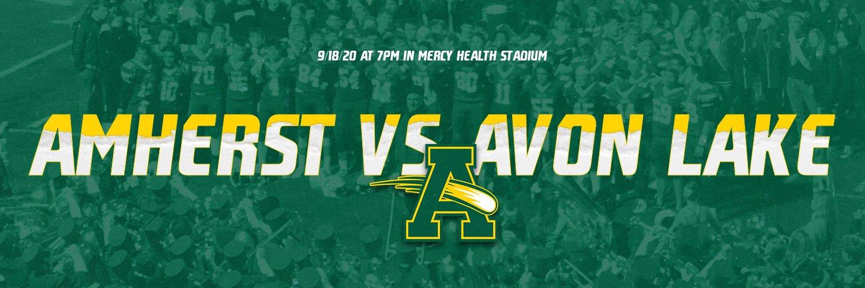 .@AmherstFootball vs. @AvonLakeSports, LIVE on YouTube tonight