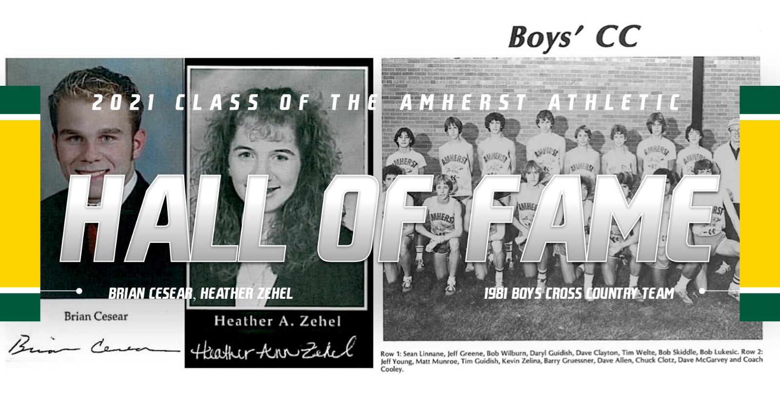 Amherst Athletic Hall of Fame Announces the Class of 2021 Inductees