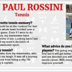 Senior Spotlight – John Paul Rossini