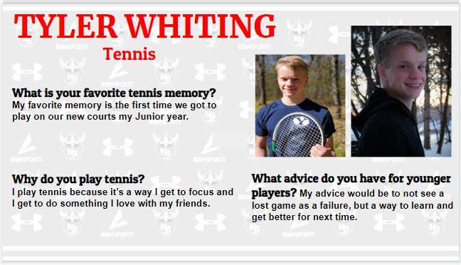 Senior Spotlight – Tyler Whiting