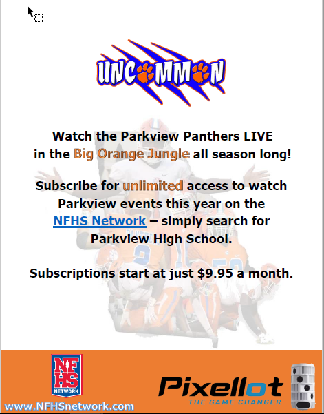 Parkview Games Now Available on Live Stream