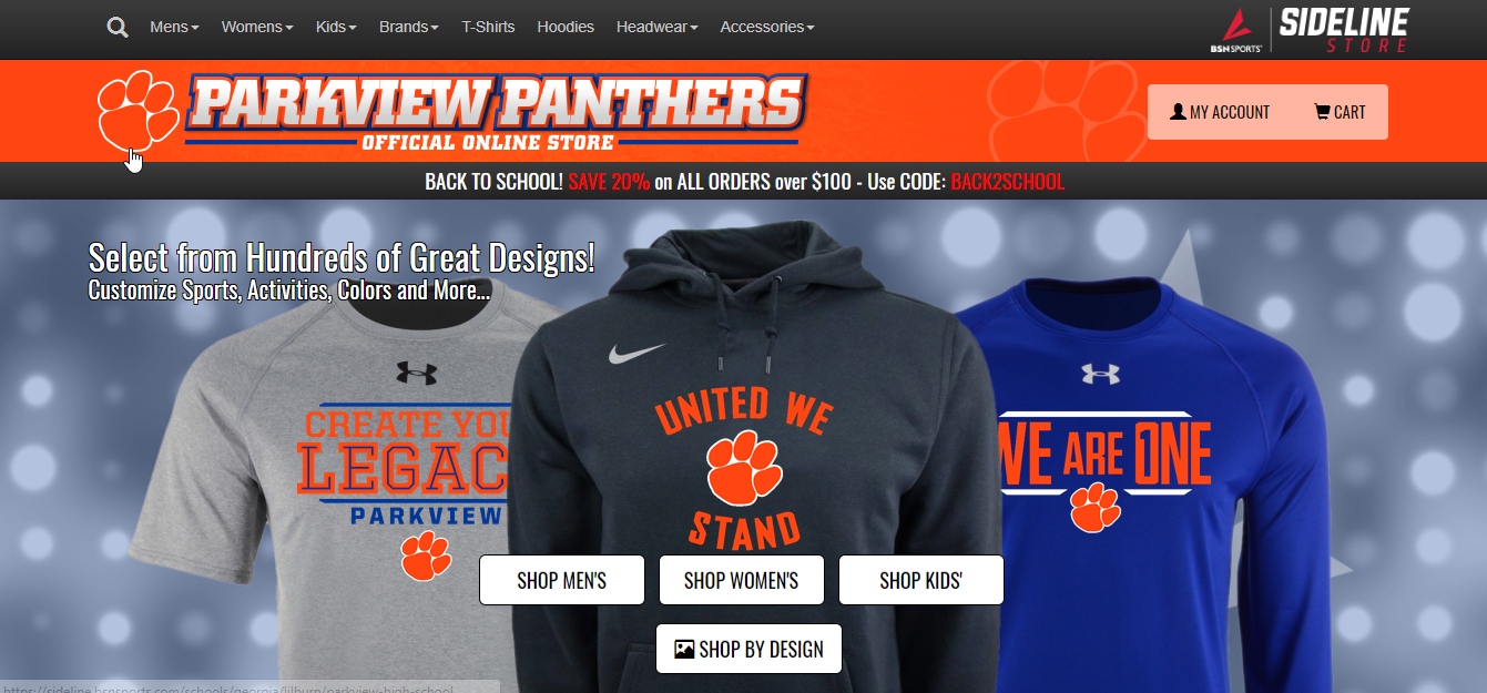 Parkview Athletics Sideline Spirit Wear Available Online