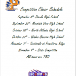 Competition Cheer Schedule Released