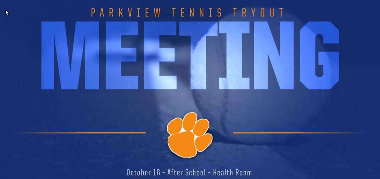 Tennis Tryout Meeting