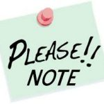 COVID- 19 – All Activities Cancelled Until Further Notice