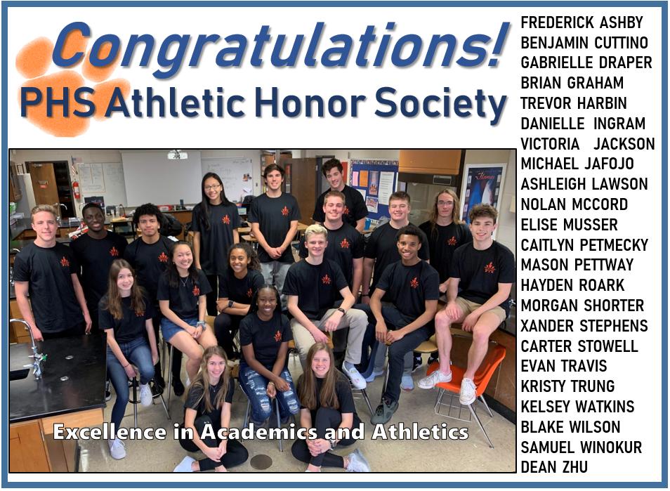 Congrats Athletic Honor Society Seniors