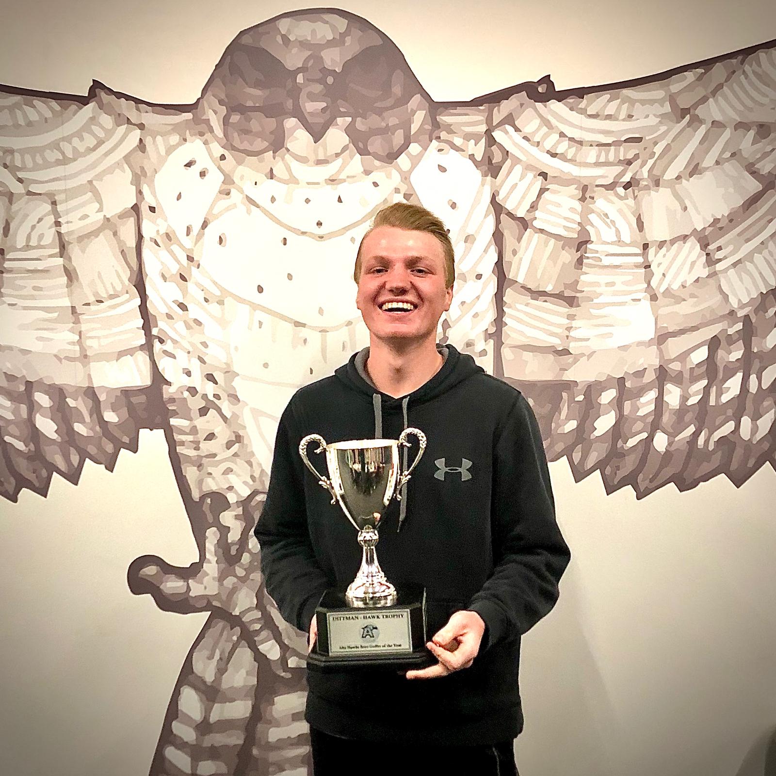 RJ Bonds awarded the Dittman-Hawk Trophy (Alta Golfer of the Year 2019)