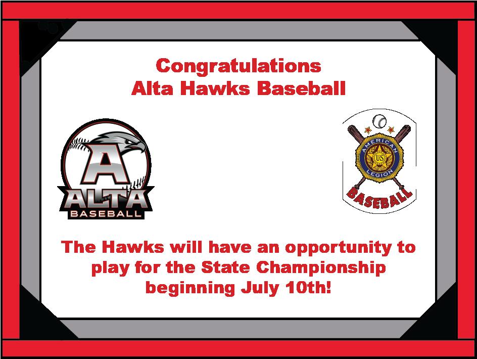 Hawks Baseball Summer Region Champions!