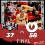 Lady Hawks Basketball falls to Olympus 58 – 37