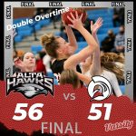 Lady Hawks Basketball beats Murray 56 – 51