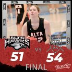 Lady Hawks Basketball falls to Taylorsville 54 – 51