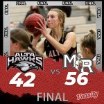 Lady Hawks Basketball falls to Mountain Ridge 56 – 42