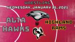 Watch Live! Hawks Wrestling @ Highland