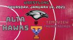 Watch Live! Hawks Wrestling @ Timpview