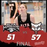 Lady Hawks Basketball falls to Timpanogos 57 – 51