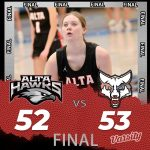 Lady Hawks Basketball falls to Timpanogos 53 – 52