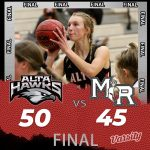 Lady Hawks Basketball beats Mountain Ridge 50 – 45