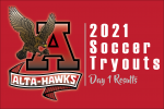 2021 Alta Men's Soccer Tryout Results – Day 1