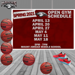 Girls Basketball Open Gyms Spring 2021
