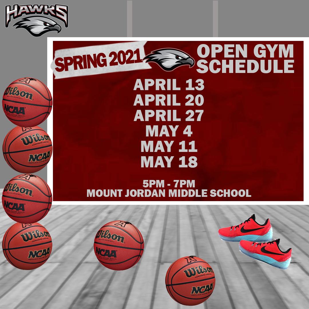 Girls Basketball Open Gyms Spring 2021