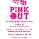 Girls Volleyball Pink Out October 1st