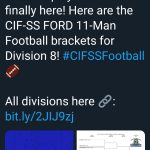 Football Hosts Pacifica CIF 1st Round 11/8