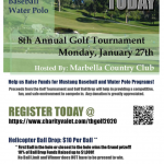 Baseball & Water Polo Golf Tournament January 27th