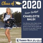 Senior Spotlight Charlotte Baldi Cheer