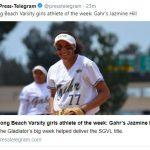 Jazmine Hill is Press Telegram's Girls Athlete of the Week!