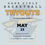 Girls Basketball Tryouts Next Thursday May 23, 2019