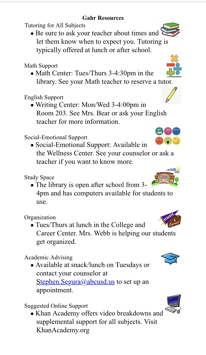 Academic Resources and Support