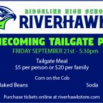 Homecoming Tailgate Party Friday @ 5:30 pm