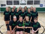 Girls 7th Grade Volleyball wins CC Invitational in six strait games.
