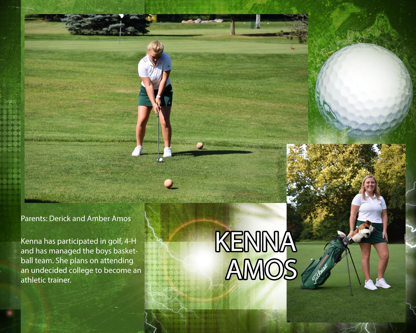 Senior Girls Golfer – Kenna Amos